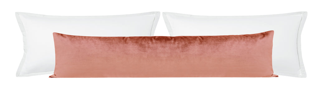 The XL Lumbar :: Faux Silk Velvet // Rose Gold