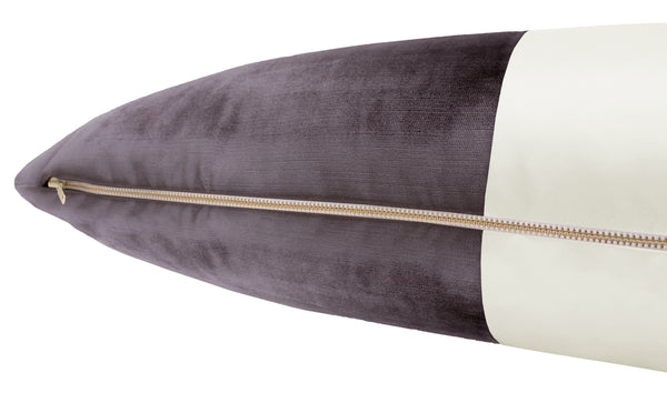 The XL Lumbar :: COLORBLOCK Faux Silk Velvet // Smokey Amethyst