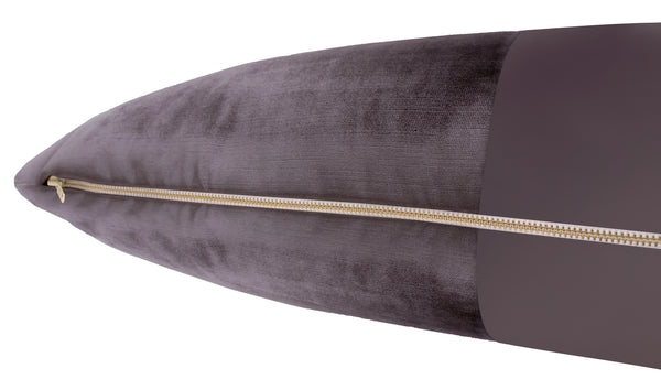 The XL Lumbar :: MONOCHROMATIC Faux Silk Velvet // Smokey Amethyst