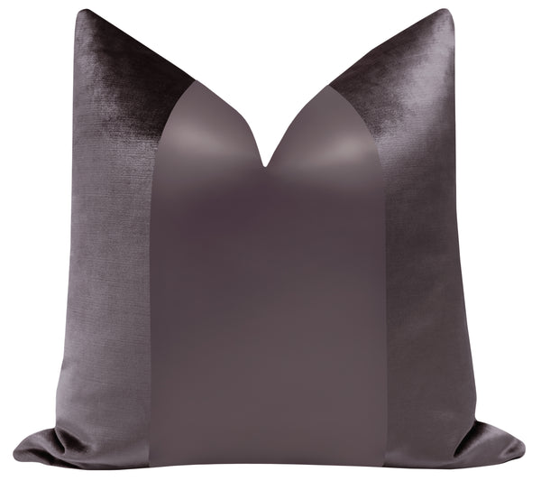 PANEL Monochromatic :: Faux Silk Velvet // Smokey Amethyst