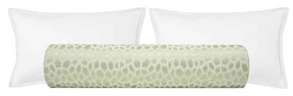 The Bolster :: Faux Silk Safari // Sage
