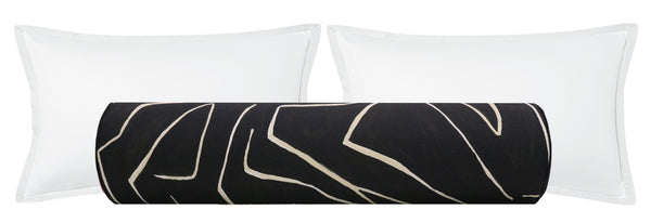The Bolster :: Graffito // Onyx + Beige