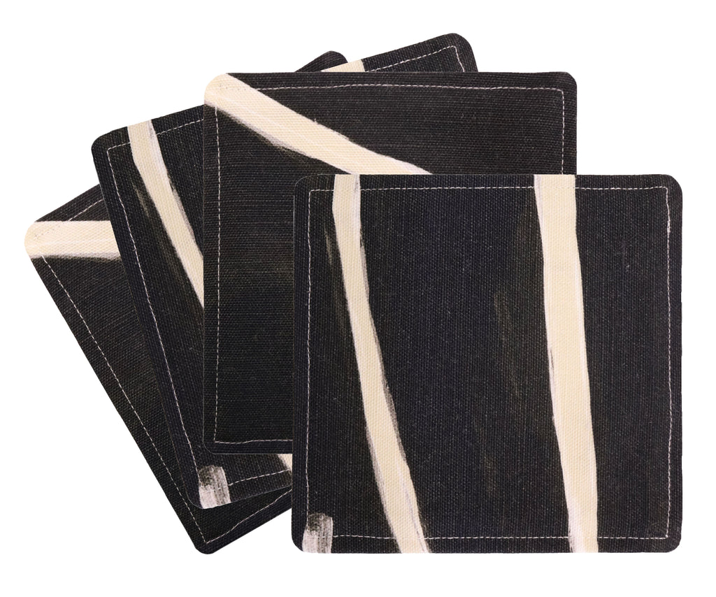 Cocktail Napkins :: Graffito // Onyx + Beige