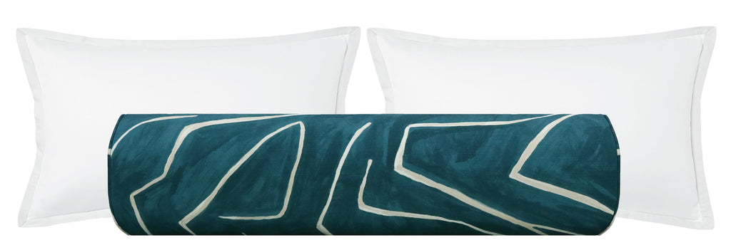 The Bolster :: Graffito // Teal + Pearl BACKORDER