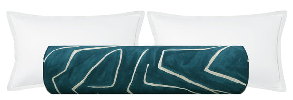 The Bolster :: Graffito // Teal + Pearl