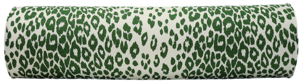 The Bolster :: Iconic Leopard // Green