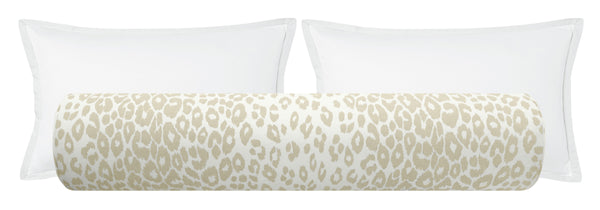 The Bolster :: Iconic Leopard // Linen