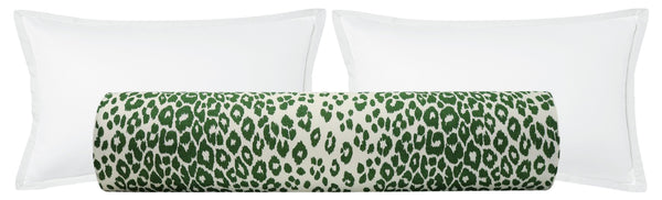 BACKORDER The Bolster :: Iconic Leopard // Green