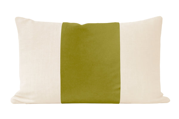 The Little Lumbar :: PANEL Studio Velvet // Chartreuse