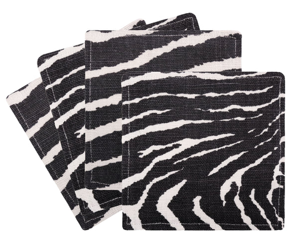 Cocktail Napkins :: Le Zebre // Black
