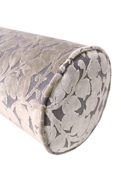 The Bolster :: Leaf Cut Velvet // Taupe