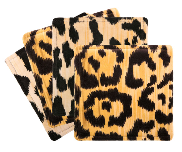 Cocktail Napkins :: Leopard Velvet