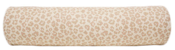 The Bolster :: Leopard Linen Print // Blush