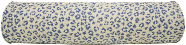 The Bolster :: Leopard Linen Print // Denim