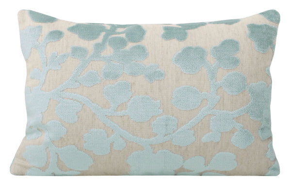 The Little Lumbar :: Blossom Cut Velvet // Spa Blue BACKORDER