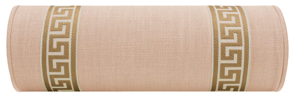 The Little Bolster :: Signature Linen // Cameo + Greek Key Trim // Natural