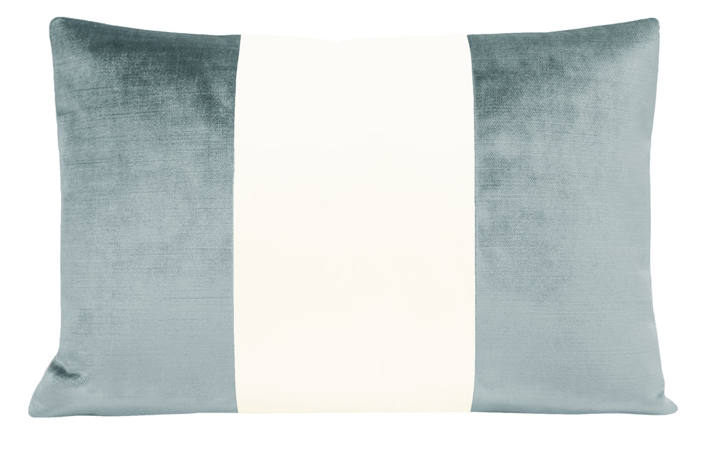 The Little Lumbar :: COLORBLOCK Faux Silk Velvet // Cerulean Blue