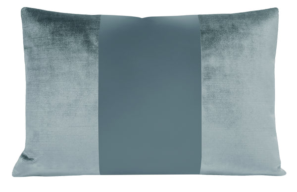 The Little Lumbar :: MONOCHROMATIC Faux Silk Velvet // Cerulean Blue