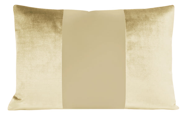 The Little Lumbar :: MONOCHROMATIC Faux Silk Velvet // Champagne