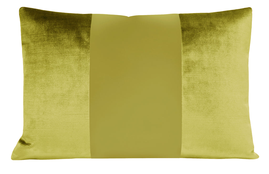 The Little Lumbar :: MONOCHROMATIC Faux Silk Velvet // Chartreuse