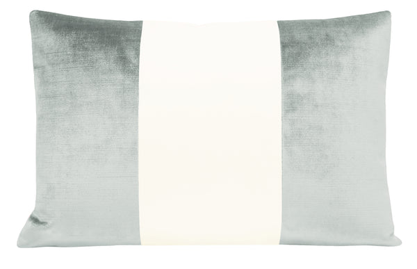 The Little Lumbar :: COLORBLOCK Faux Silk Velvet // French Grey