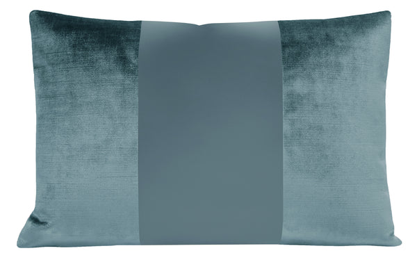 The Little Lumbar :: MONOCHROMATIC Faux Silk Velvet // French Blue