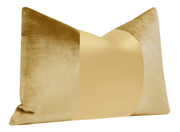 The Little Lumbar :: MONOCHROMATIC Faux Silk Velvet // Gold BACKORDER