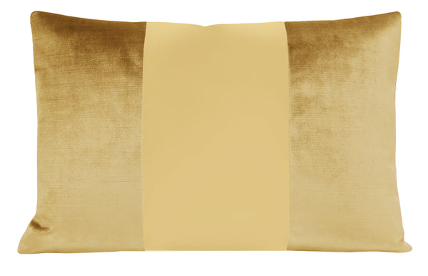 The Little Lumbar :: MONOCHROMATIC Faux Silk Velvet // Gold