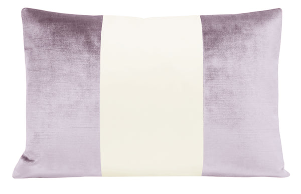 The Little Lumbar :: COLORBLOCK Faux Silk Velvet // Lavender