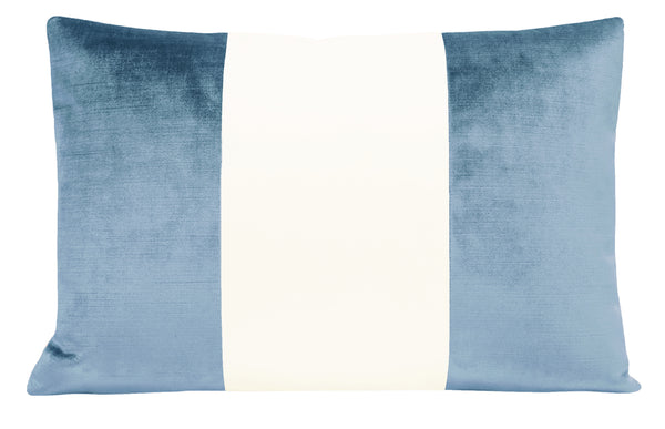 The Little Lumbar :: COLORBLOCK Faux Silk Velvet // Hydrangea Blue BACKORDER