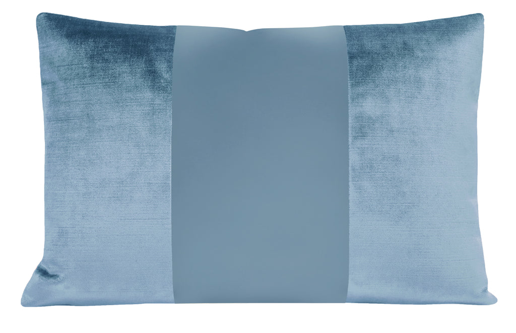 The Little Lumbar :: MONOCHROMATIC Faux Silk Velvet // Hydrangea Blue
