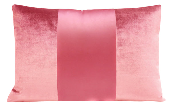 The Little Lumbar :: MONOCHROMATIC Faux Silk Velvet // Rose Pink