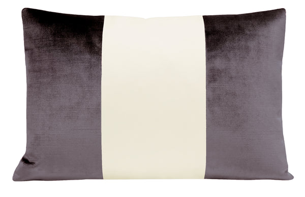 The Little Lumbar :: COLORBLOCK Faux Silk Velvet // Smokey Amethyst