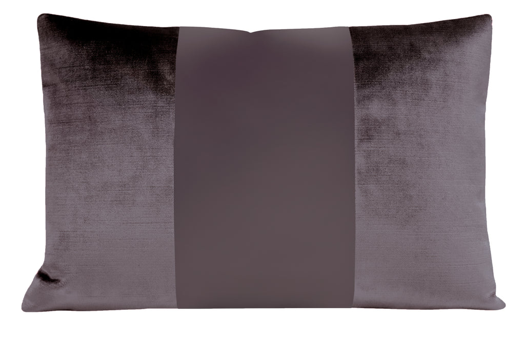The Little Lumbar :: MONOCHROMATIC Faux Silk Velvet // Smokey Amethyst