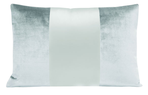 The Little Lumbar :: MONOCHROMATIC Faux Silk Velvet // Spa blue