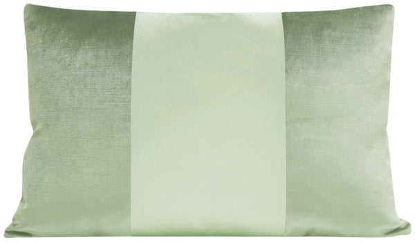 The Little Lumbar :: MONOCHROMATIC Faux Silk Velvet // Pistachio