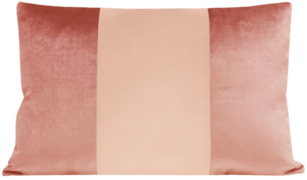 The Little Lumbar :: MONOCHROMATIC Faux Silk Velvet // Rose Gold