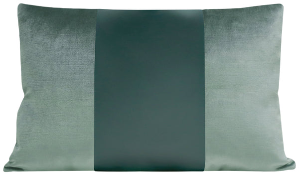 The Little Lumbar :: MONOCHROMATIC Faux Silk Velvet // Turkish Blue