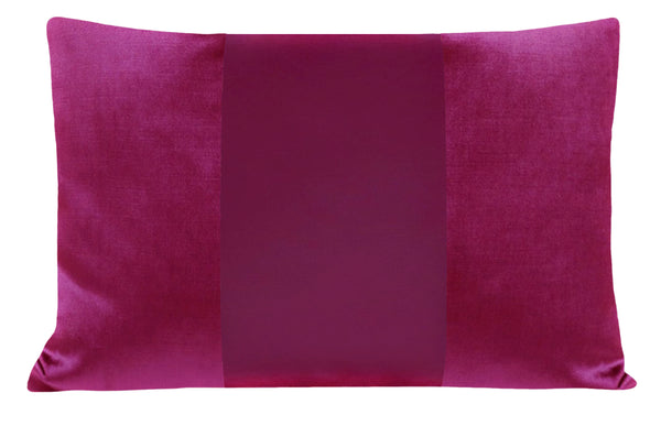 The Little Lumbar :: MONOCHROMATIC Faux Silk Velvet // Magenta