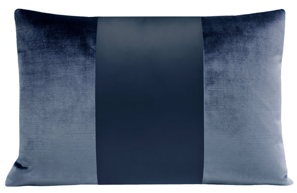The Little Lumbar :: MONOCHROMATIC Faux Silk Velvet // Prussian Blue BACKORDER