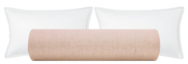 The Bolster :: Metallic Linen // Rose Gold