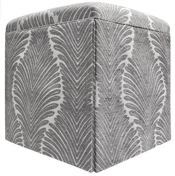 The Skirted Ottoman :: Musgrove Chenille // Charcoal BACKORDER