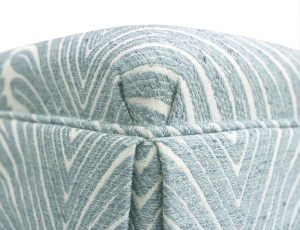 The Skirted Ottoman :: Musgrove Chenille // Spa Blue BACKORDER