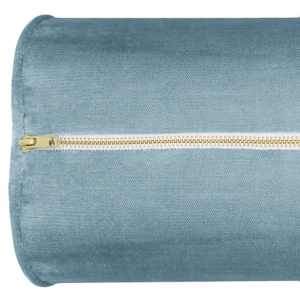 The Bolster :: Faux Silk Velvet // Hydrangea Blue
