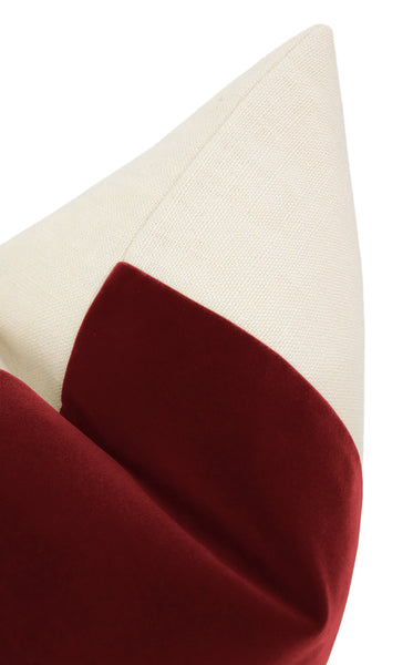 The Little Lumbar :: PANEL Signature Velvet // Crimson