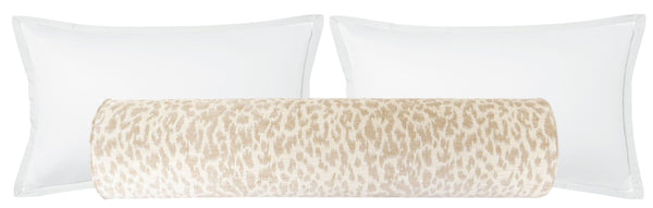 The Bolster :: Neutral Leopard Chenille BACKORDER