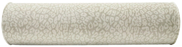 The Bolster :: Neutral Leopard Velvet