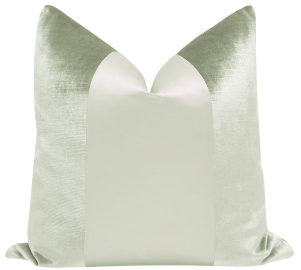PANEL Monochromatic :: Faux Silk Velvet // Sage