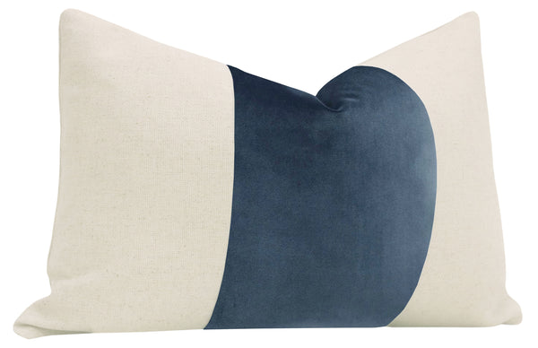 The Little Lumbar :: PANEL Signature Velvet // Prussian Blue