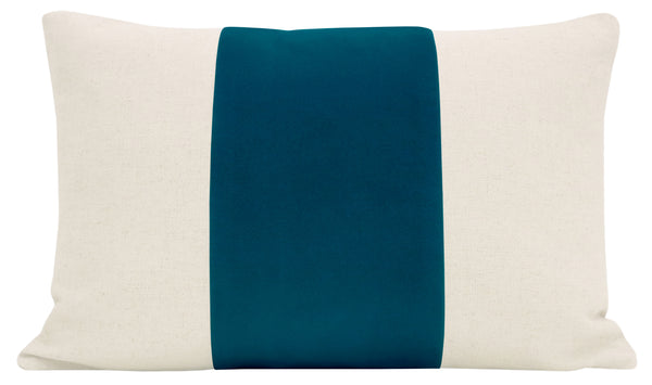 The Little Lumbar :: PANEL Signature Velvet // Baltic Blue